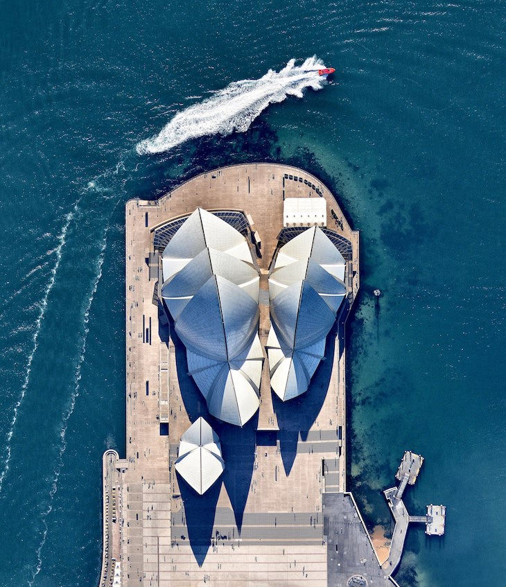 15 Stunning Aerial Shots of UNESCO Heritage Sites, Sydney Opera House
