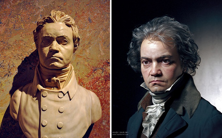 3D Portraits of Famous Classic Artists, Ludwig Van Beethoven