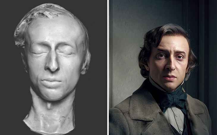 3D Portraits of Famous Classic Artists, Frédéric Chopin