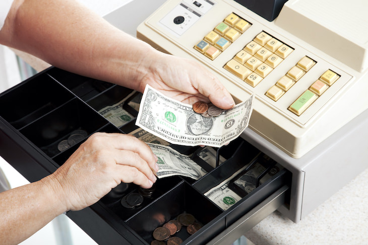 How Dirty Money Truly Is & How to Protect Yourself, cash register with bills