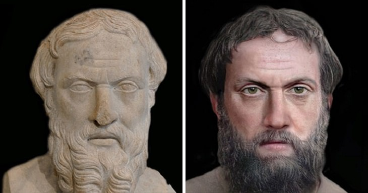 Reconstructed Faces of Ancient People,  historian Herodotus
