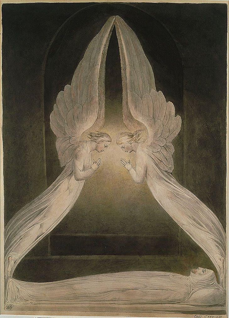 William Blake Paintings,  Christ