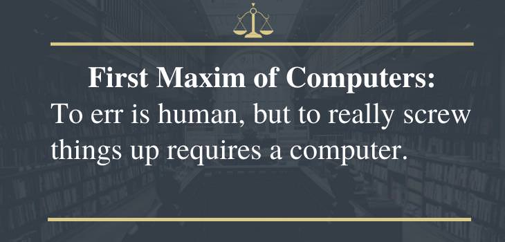funny laws, computers