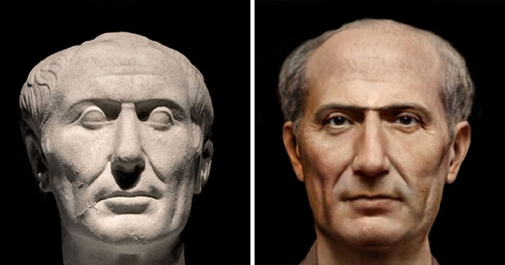 Reconstructed Faces of Ancient People, Julius Caesar