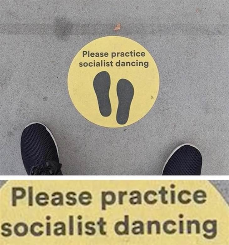 14 Funny Spelling Mistakes on Public Signs, socialist dancing