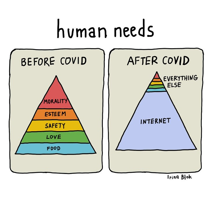 COVID-19 Comics, Internet