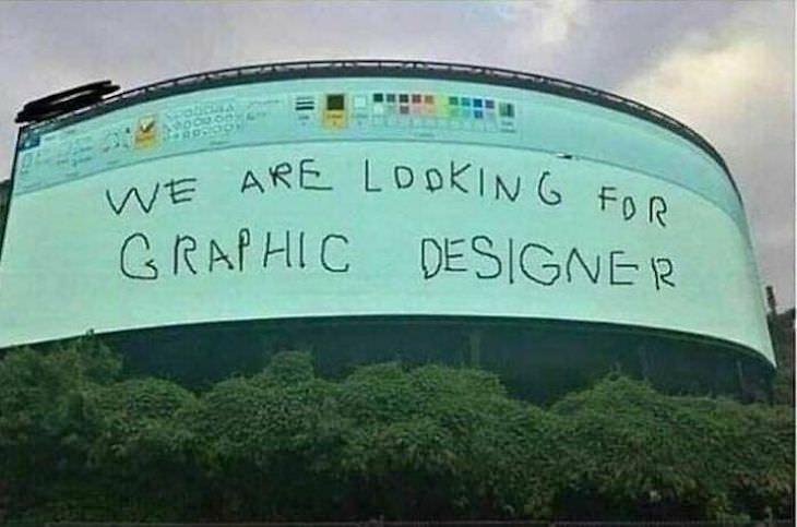 Funny signs, graphic designer
