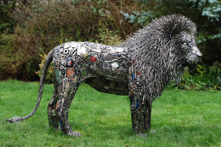 Brian Mock Metal Sculptures lion