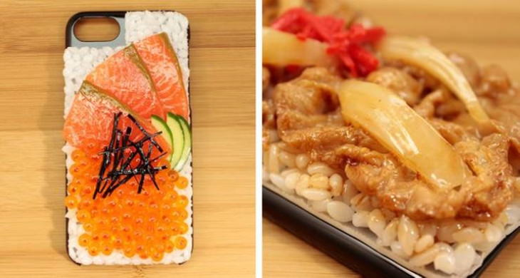 Japanese Innovations A smartphone cover that looks just like real food
