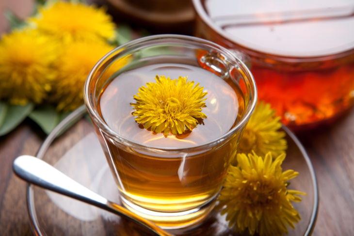 Health Benefits of Dandelion Tea Cup of Dandelion Tea