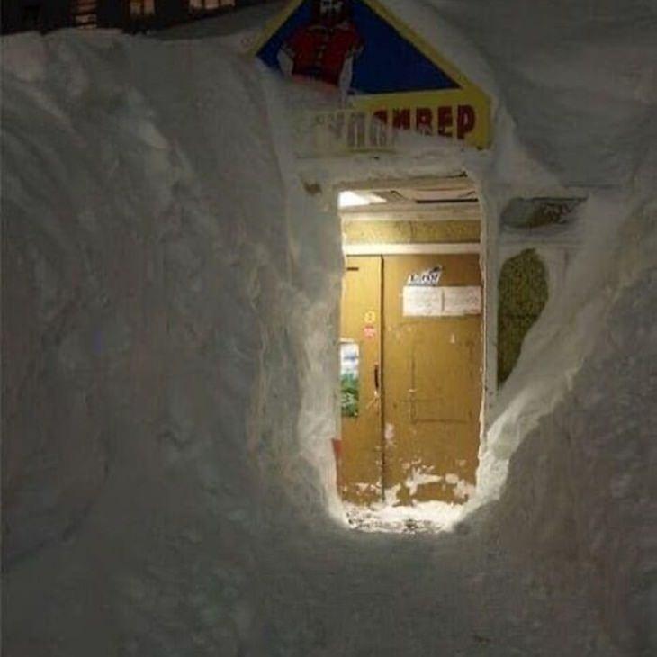 Norilsk, Russia, snow