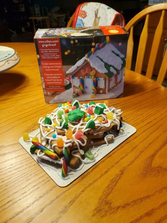 2020 Christmas Fails gingerbread house