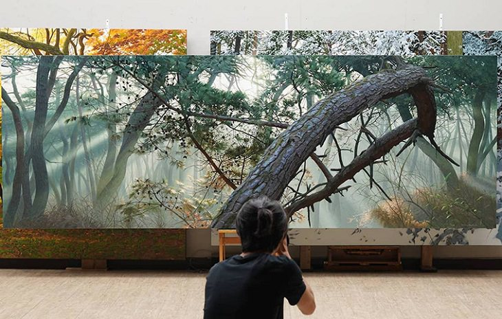 Hyperrealism Paintings, trees