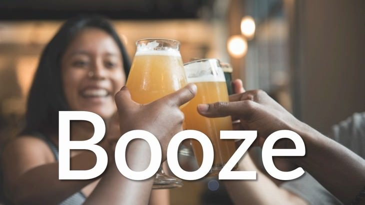 pseudo modern words and phrases booze