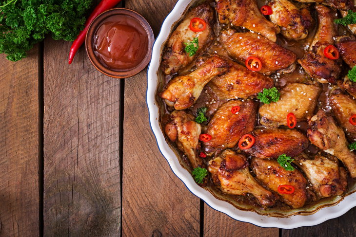 Spicy Asian Chicken Wing