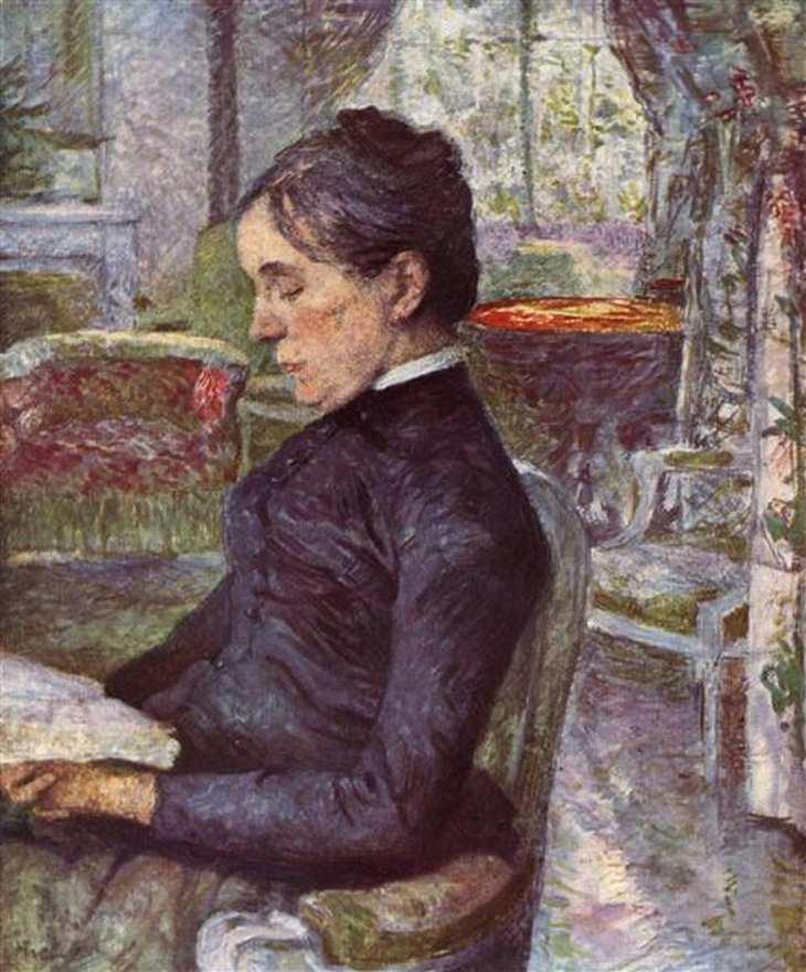 Portrait of Countess A.de Toulouse-Lautrec, oil on canvas, 1886