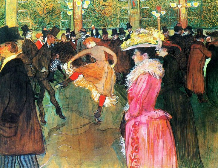 At the Moulin Rouge, The Dance, oil on canvas, 1890