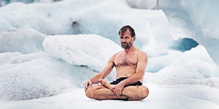 Wim Hof Method in ice