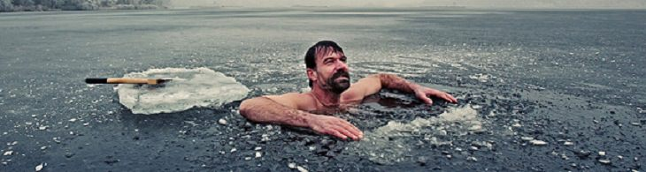Wim Hof Method swimming in ice water