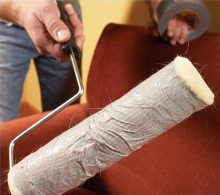 duct tape uses DIY Lint Roller