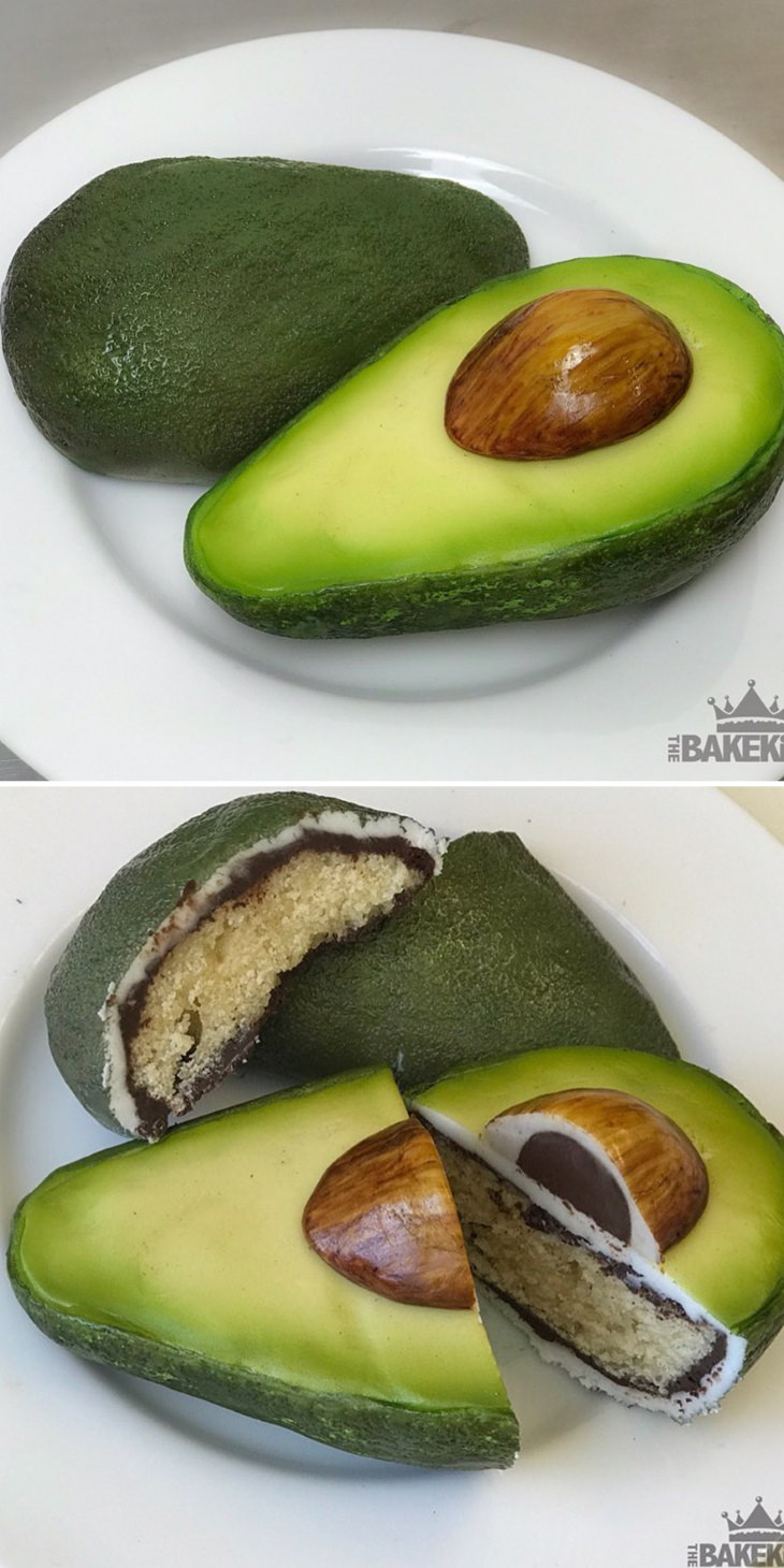 Optical Illusion Cakes by Ben Cullen avocado