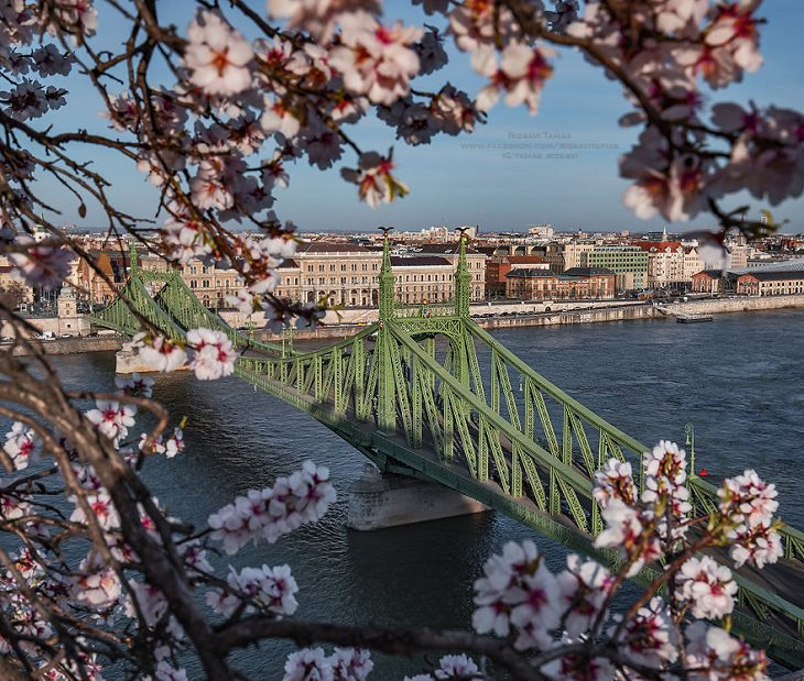 Ciudades Vacías Durante La Curantena Por Coronavirus Budapest Hungría Vista Panorámica