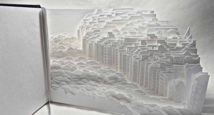 "Ayumi Shibata Paper Cutting Art ""Museum Mile Book"""