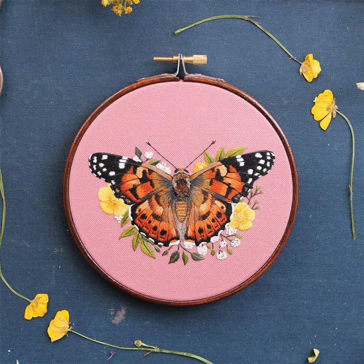 Stitching inspired by nature: butterfly