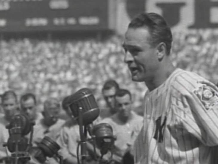 Luckiest Man, Lou Gehrig, 1938