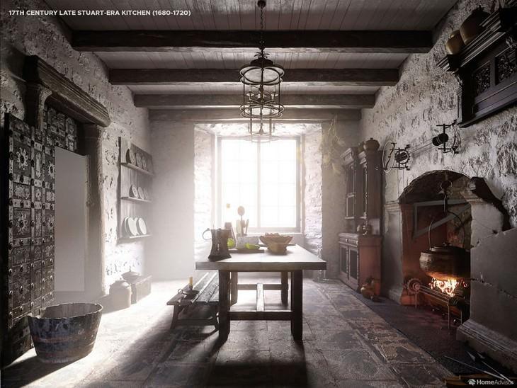 17th Century Late Stuart-era Kitchen (1680-1720)