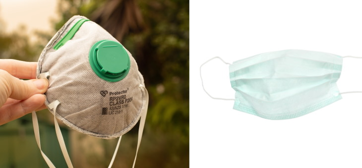 surgical face mask vs N95