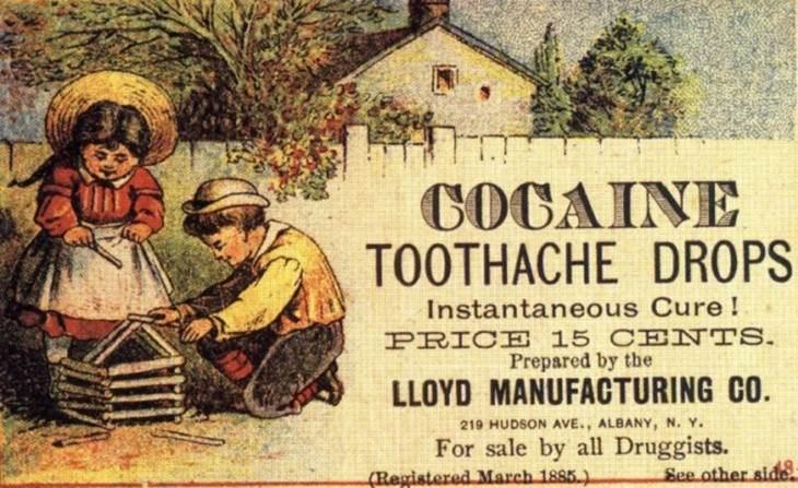 Prácticas comunes del pasado prohibidas ahora Tratamiento de cocaína