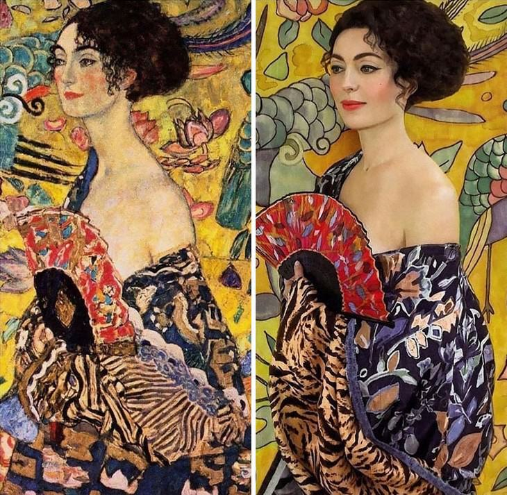 2. Lady with Fan by Gustav Klimt