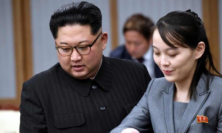 Kim Yo-jong together with Kim Jong-un