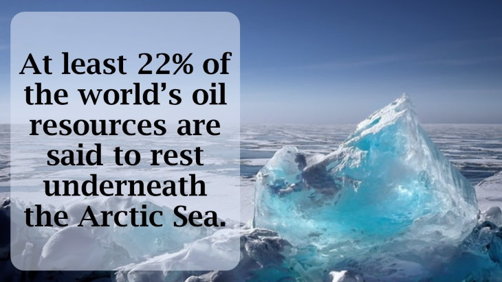12 Fascinating Facts About the North Pole At least 22% of the world's oil resources are said to rest underneath the Arctic Sea.