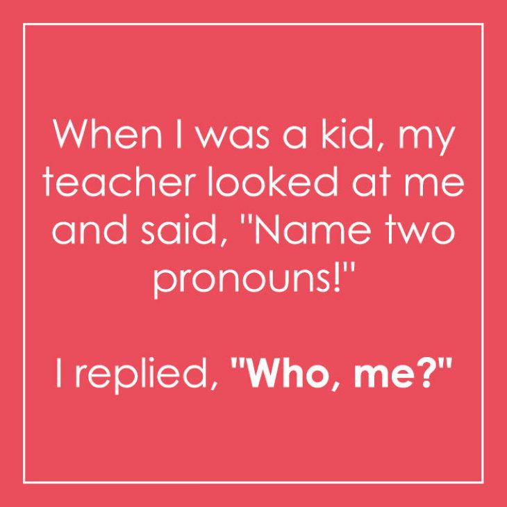 Clever Language Jokes and Puns pronouns