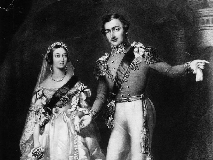 1. Queen Victoria and Prince Albert of Saxe-Coburg and Gotha at St James's Palace, February 10, 1840