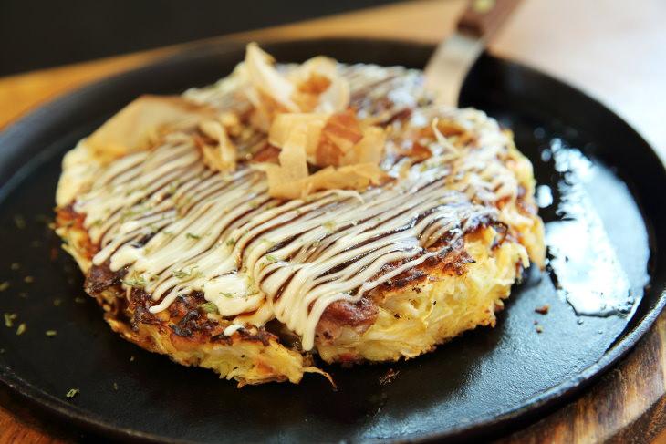 comfort foods Japan - Okonomiyaki