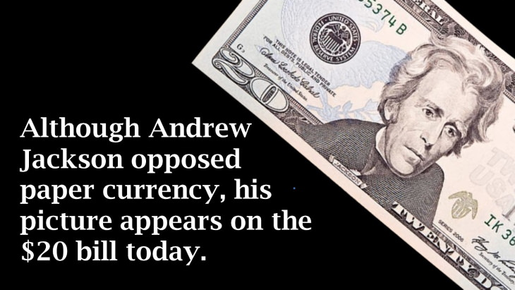 12 Ironic Stories from History andrew jackson