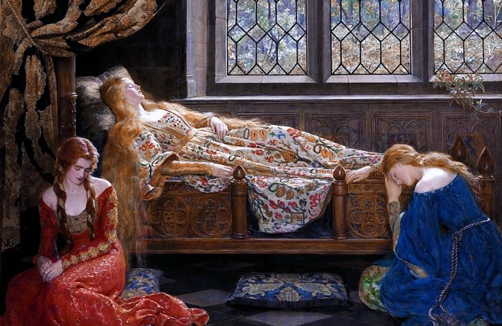 The Forgotten Epidemic: What Is the Sweating Sickness? sleeping beauty pre-Raphaelite painting