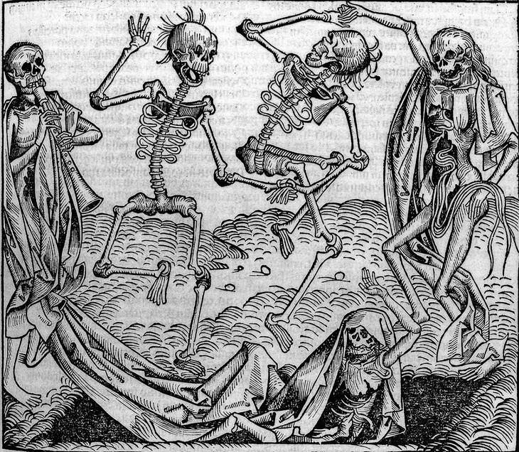 The Forgotten Epidemic: What Is the Sweating Sickness? dancing skeletons
