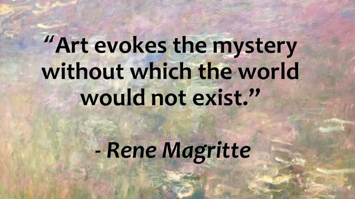 Inspirational Quotes From World's Great Artists Rene Magritte
