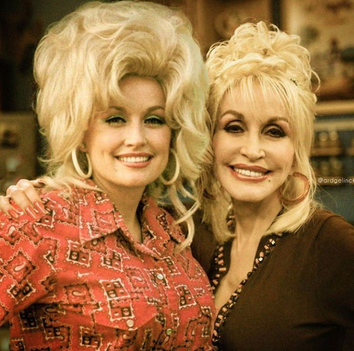 tars Side by Side Their Younger Selves Dolly Parton