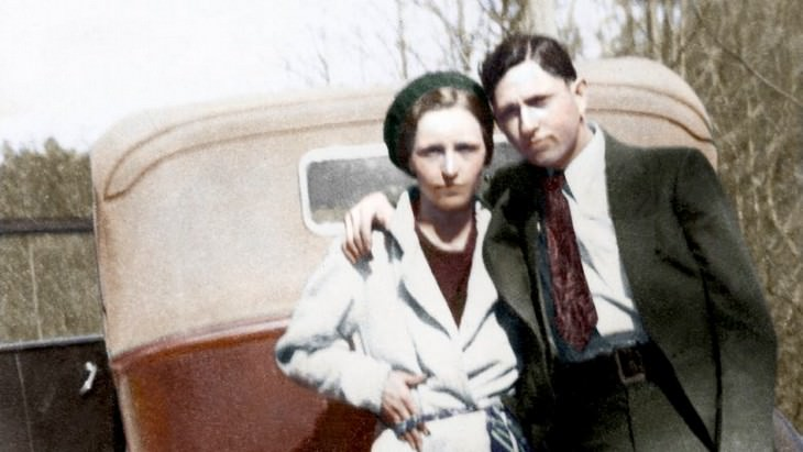 7 Facts about the real life of Bonnie and Clyde colorized