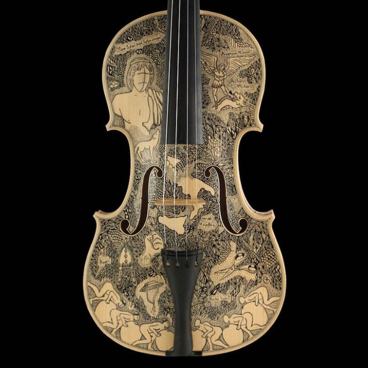 Instruments Decorated by Leonardo Frigo