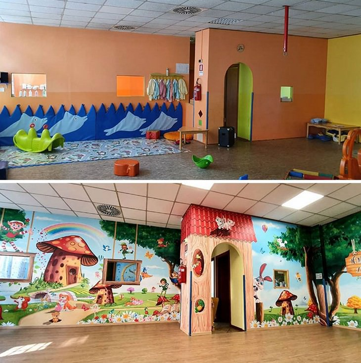Artist Transforms Hospital Units with Murals