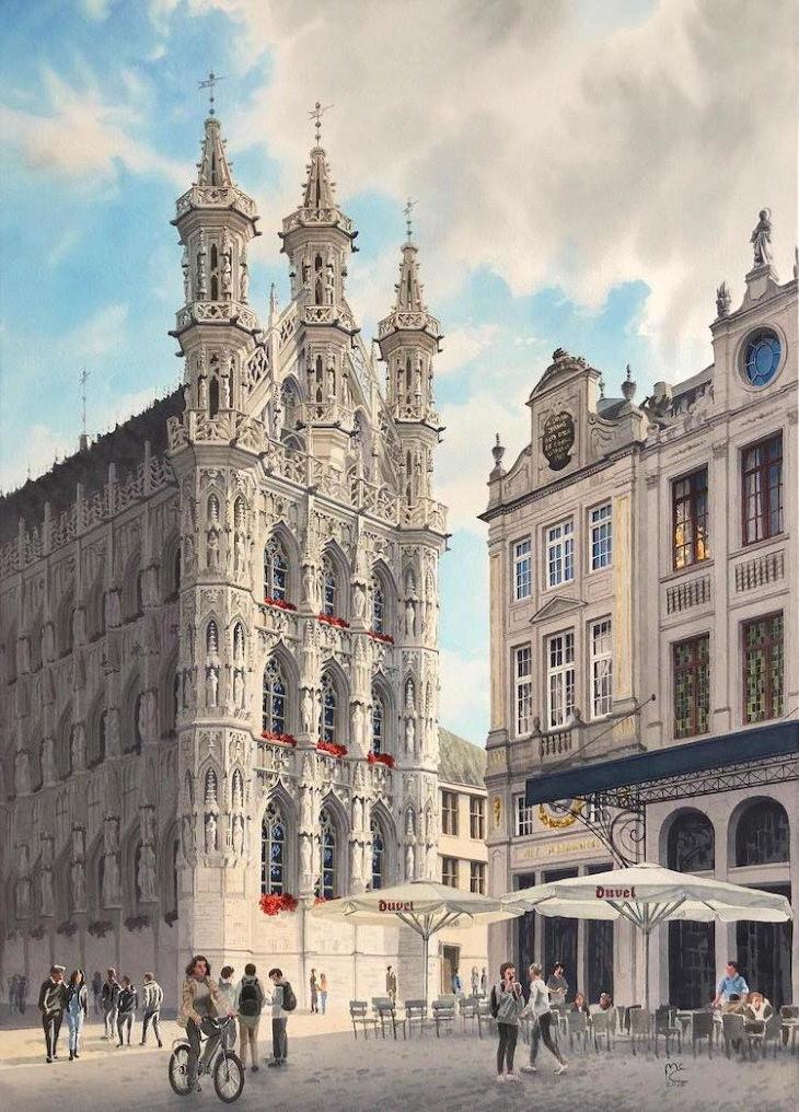 Eleanor Mill Watercolors Leuven, Belgium