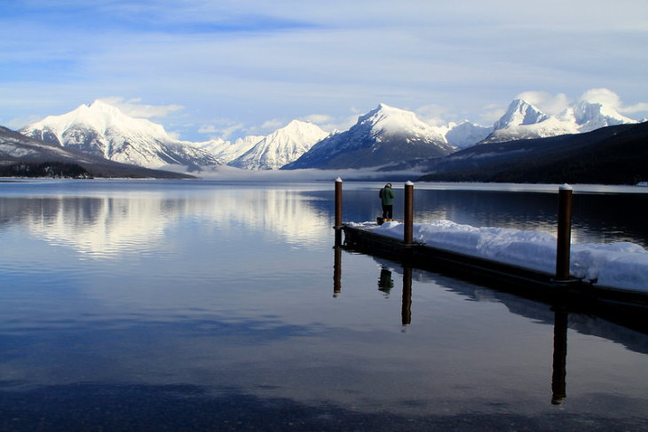 Picturesque Lakes in the US Lake McDonald, Montana