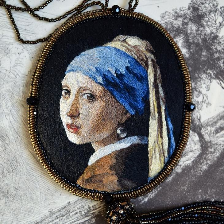 Artist's Embroidery Recreates Work of Old Masters