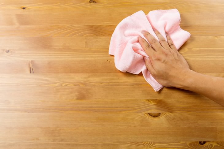 7 Items You Cannot Disinfect with Chemicals wooden surface